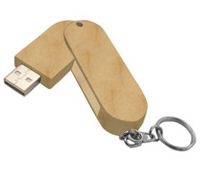 clé usb WOOD ROTATING - cle usb publicitaire